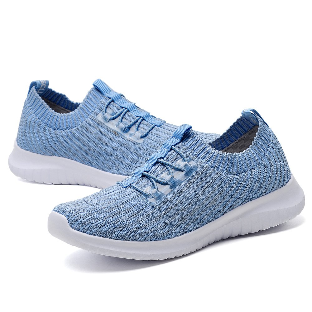 KONHILL Women's Lightweight Athletic Running Shoes Walking Casual Sports Knit Workout Sneakers B07B3PY972 7.5 B(M) US|2122 Aqua
