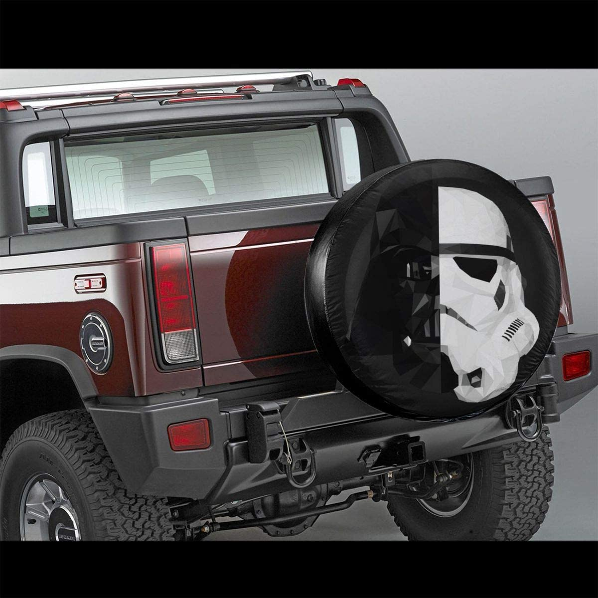 Truck and Many Vehicle Wheel Diameter 15inch RV Trailer SUV Storm Trooper Star Wars Spare Tire Cover Universal Dust-Proof Waterproof Wheel Covers-for Jeep