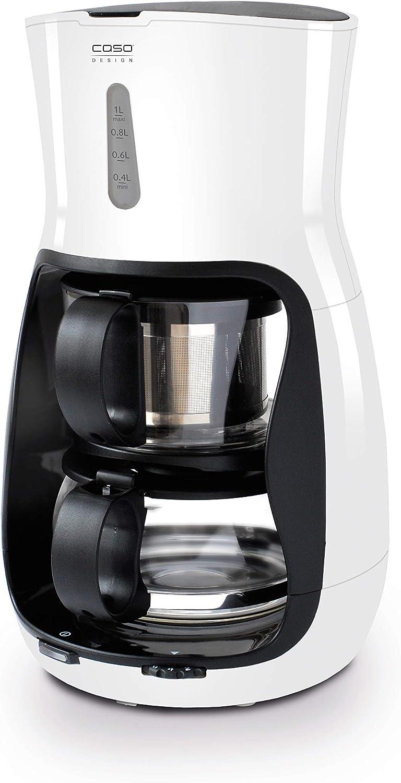 Caso 1800 Design 1800-Tetera automática, 1200 W, 1 Liter, vidrio, Color blanco: Amazon.es: Hogar