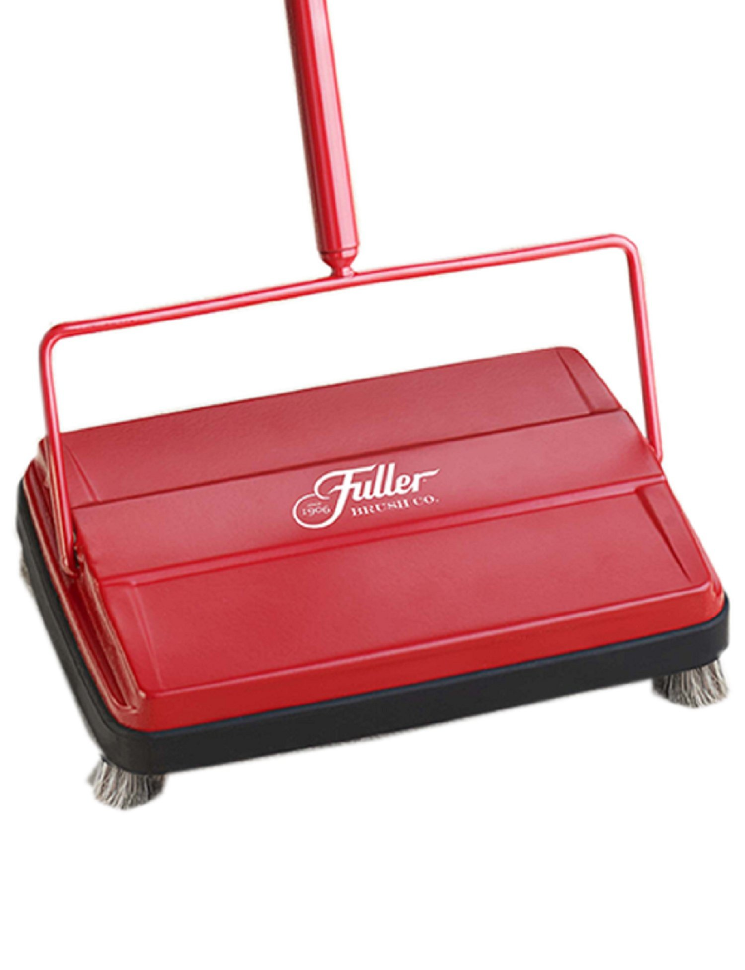 Fuller Brush Electrostatic Carpet & Floor Sweeper - 9'' Cleaning Path - Red