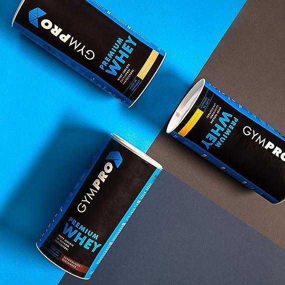 Gympro - Proteína de suero premium, polvo con 88% de contenido de proteína pura, 1000 g y 2500 g: Amazon.es: Salud y cuidado personal