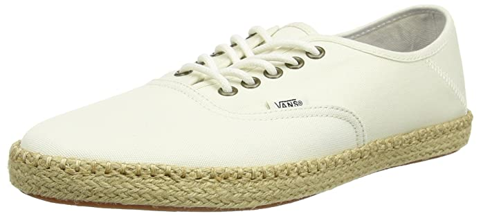 Vans Unisex Authentic Espandrillos Elfenbein (Classic White)