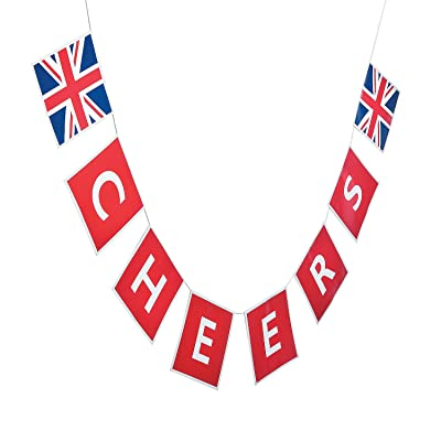 Fun Express - British Party Garland for Party - Party Decor - Hanging Decor - Garland - Party - 1 Piece: Kitchen & Dining