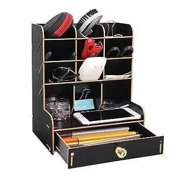Organizador de escritorio, estantería de almacenamiento, caja de ...