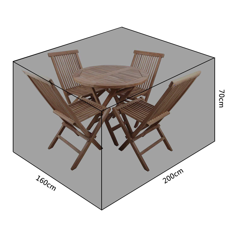Meerveil Funda Mesa Jardin, 600D Oxford Fundas Impermeables ...
