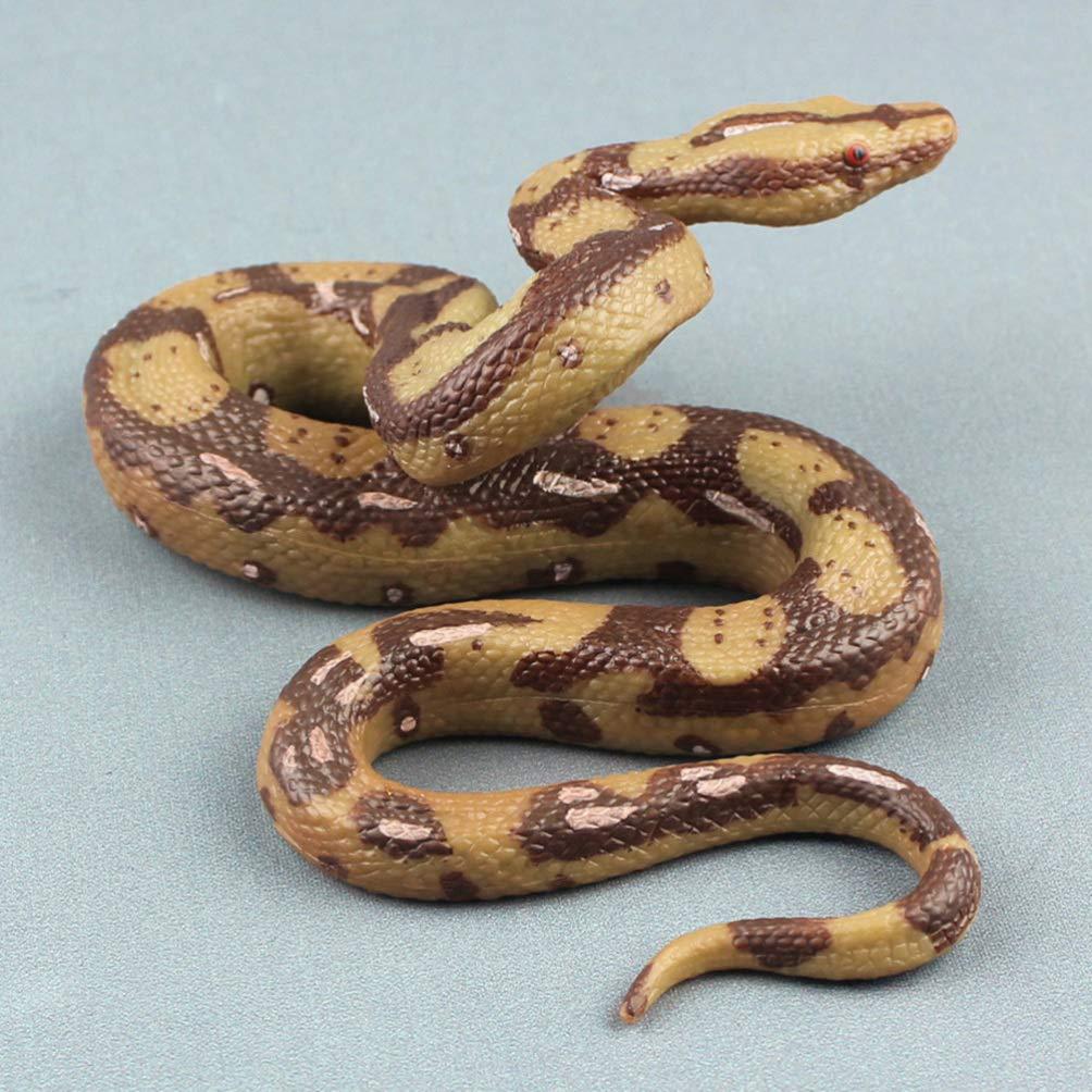 NUOBESTY Serpiente de Halloween Serpiente Grande Modelo de pit/ón Juguete Halloween Broma Espeluznante dif/ícil