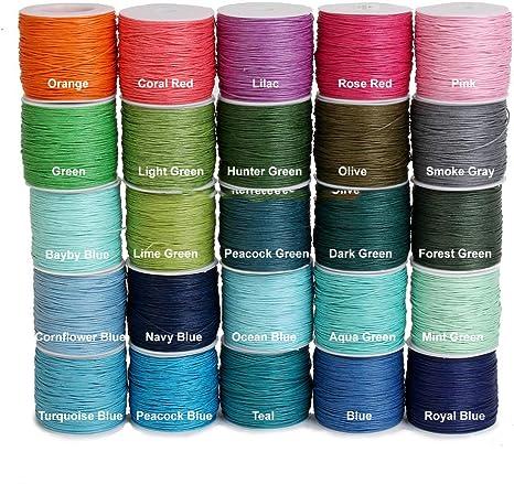green pink 20  50  100 m cotton wax 1 mm Light Orange dark grey
