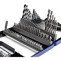 68-Piece WORKPRO Drills Bits Set with Telescoping LED Work Light