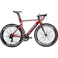 Eurobike Road Bike HYXC7000 Aluminum 54cm Frame 14 Speed Road Bicycle Red