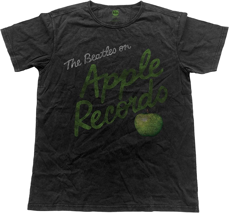 The Beatles Beatles Apple Records Vintage Black T-Shirt
