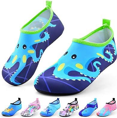 Boys Girls Slip-on Wetsuit Water Shoes Kids Quick Dry Barefoot Beach Swim Sports