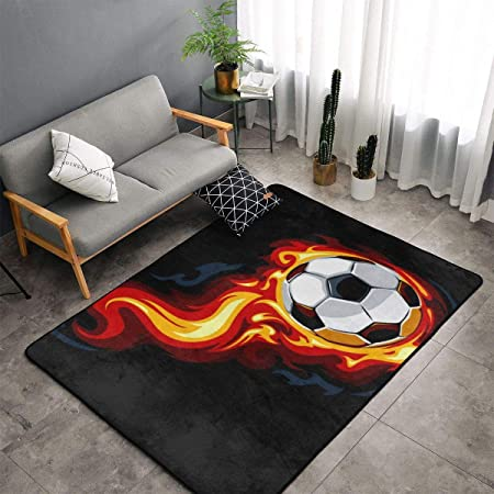 DLZXHomer Burning Balón de fútbol (60 x 39 pulgadas/150 x 100 cm ...