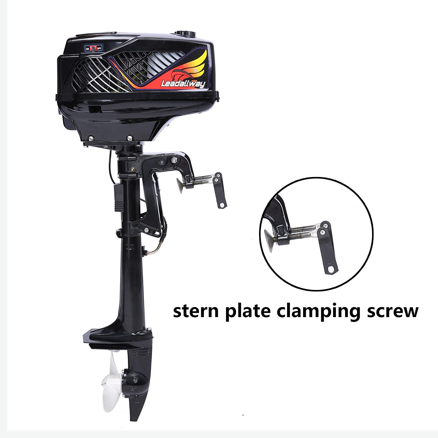 2 Stroke Outboard Motor 3 6HP Superior Boat Engine Water Cooled for  Inflatable Small Boat Fishing Canoe