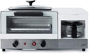 BM-1120W: 3-in-1 Breakfast Maker, Stainless Steel & White