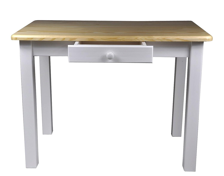 Esstisch mit Schublade Küchentisch Tisch Massiv Kiefer 100 x 60 cm ...