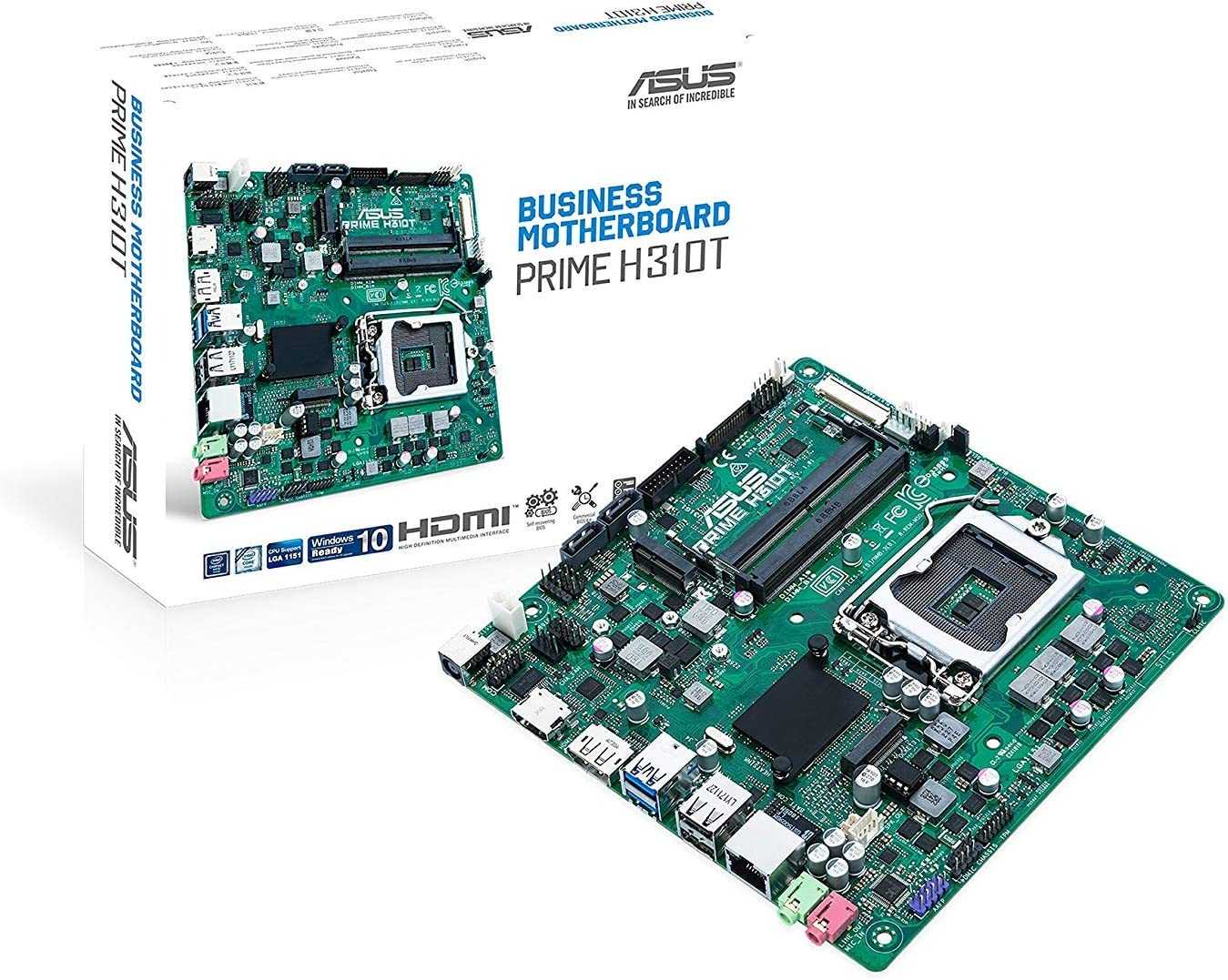 Asus Prime H310t S1151 H310 Thinmitx 90mb0xb0 M0eaym Computers Accessories