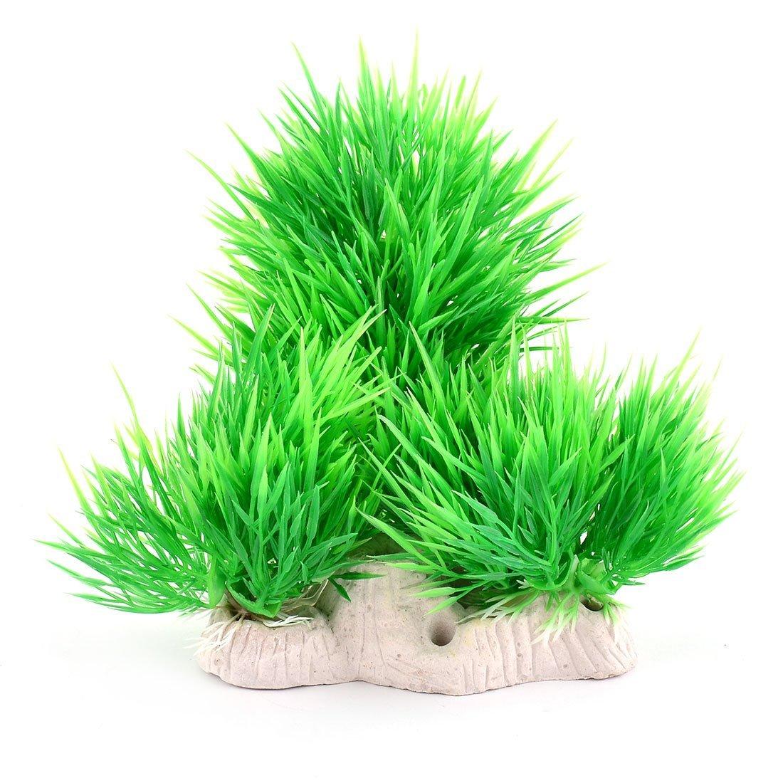 Fish Bowl Tank Landscape Artificial Plant Decor Grass 8 Inch Height 5pcs