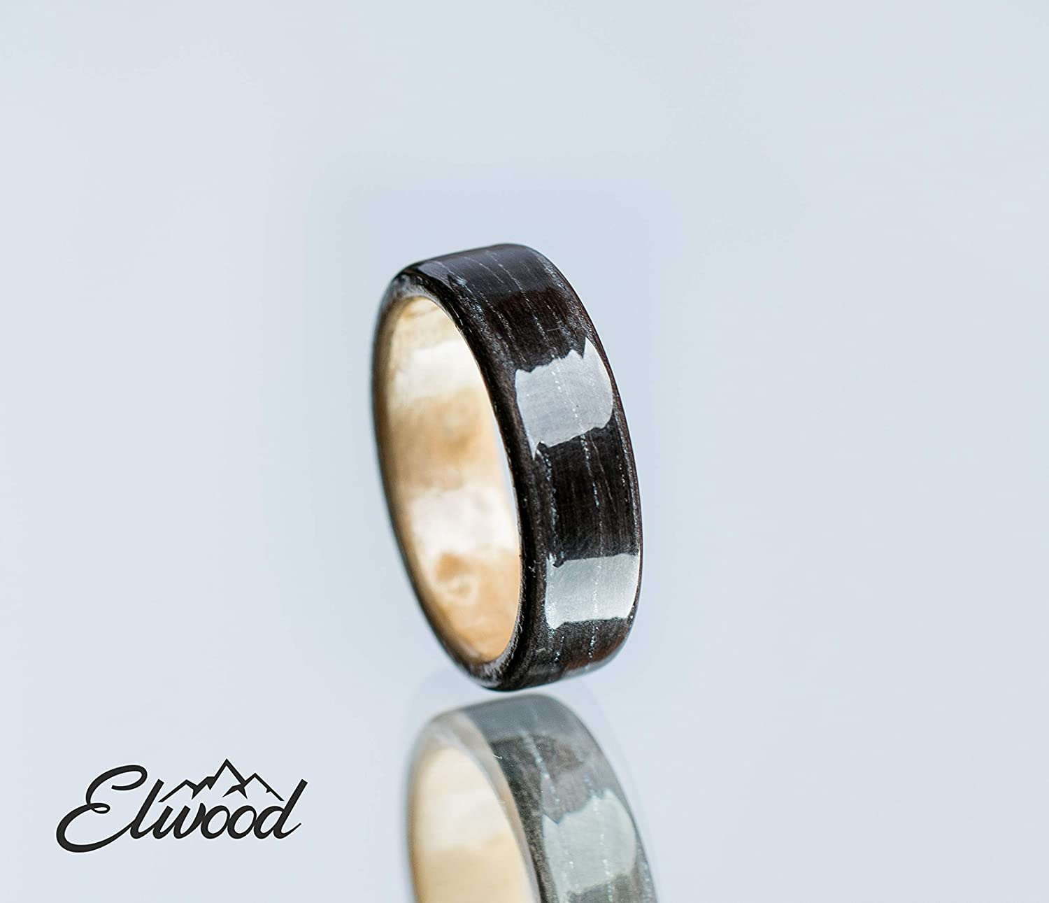 Bentwood Ring Wedding Ring Canadian Maple And Oak Classic