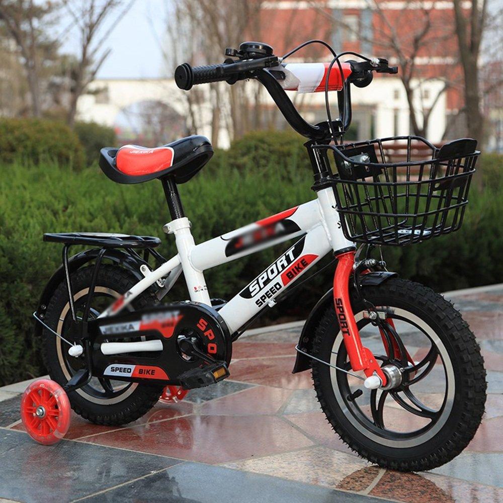 PJ 自転車 バスケット付きの男の子の自転車、トレーニングホイール付きの14,16または20インチの自転車、子供のための贈り物、男の子の自転車 子供と幼児に適しています (色 : 赤, サイズ さいず : 14 inches) B07CQYJXRN 14 inches|赤 赤 14 inches