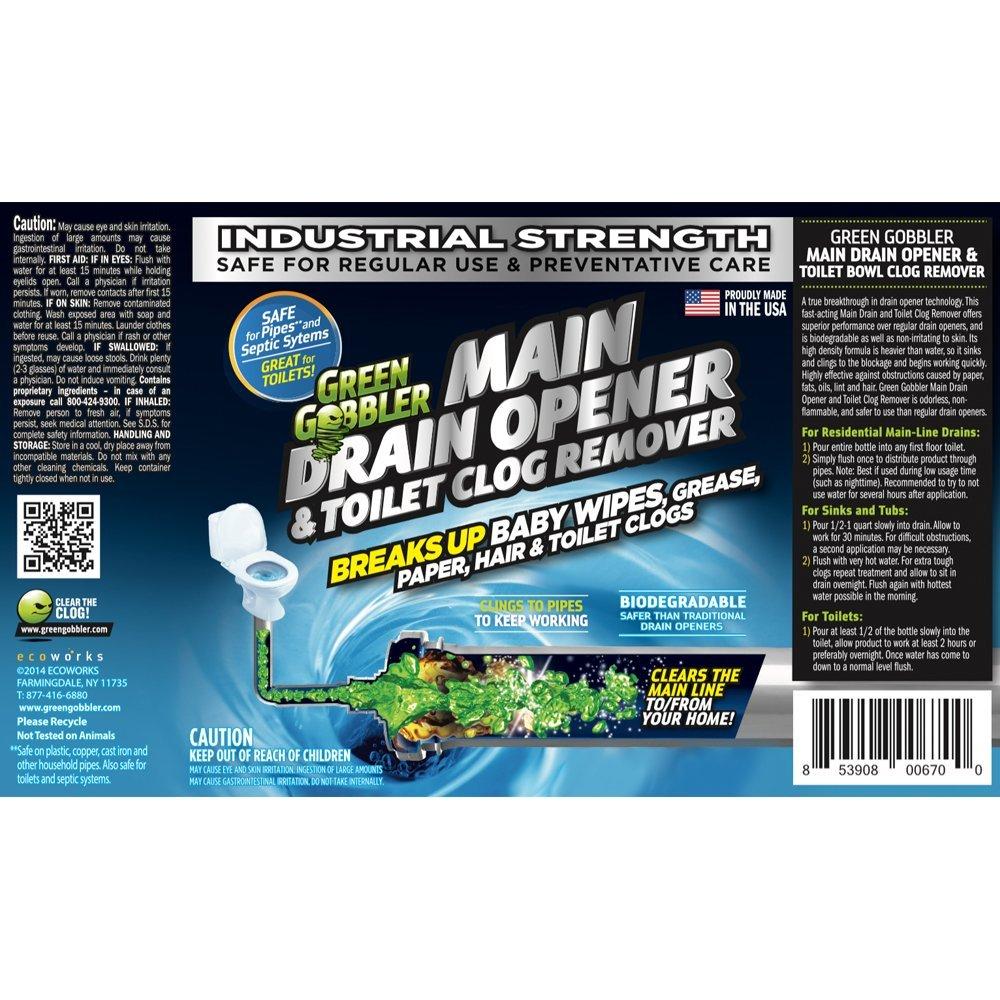 Amazon.com: Green Gobbler Ultimate Main Drain Opener + Drain cleaner ...