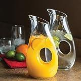 Shannon Crystal by Godinger 2-Piece Elite Glass Carafe