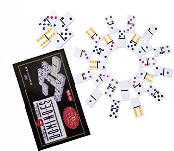 Buy Shopaholic Double 6 Dot Color Domino Game Set With 28 Domino