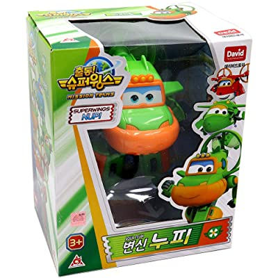 "Super Wings Season 3 Submarine Transforming Robot Toy Action Figures for Boy Kids (Green, 5"") Swampy: Toys & Games"