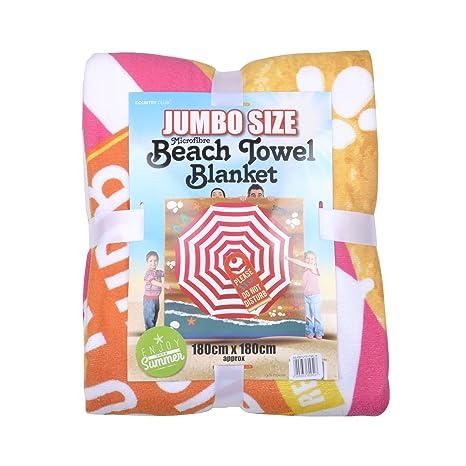 Jumbo Toalla de playa manta de microfibra (suaves y esponjosas grande patrón de XL 180