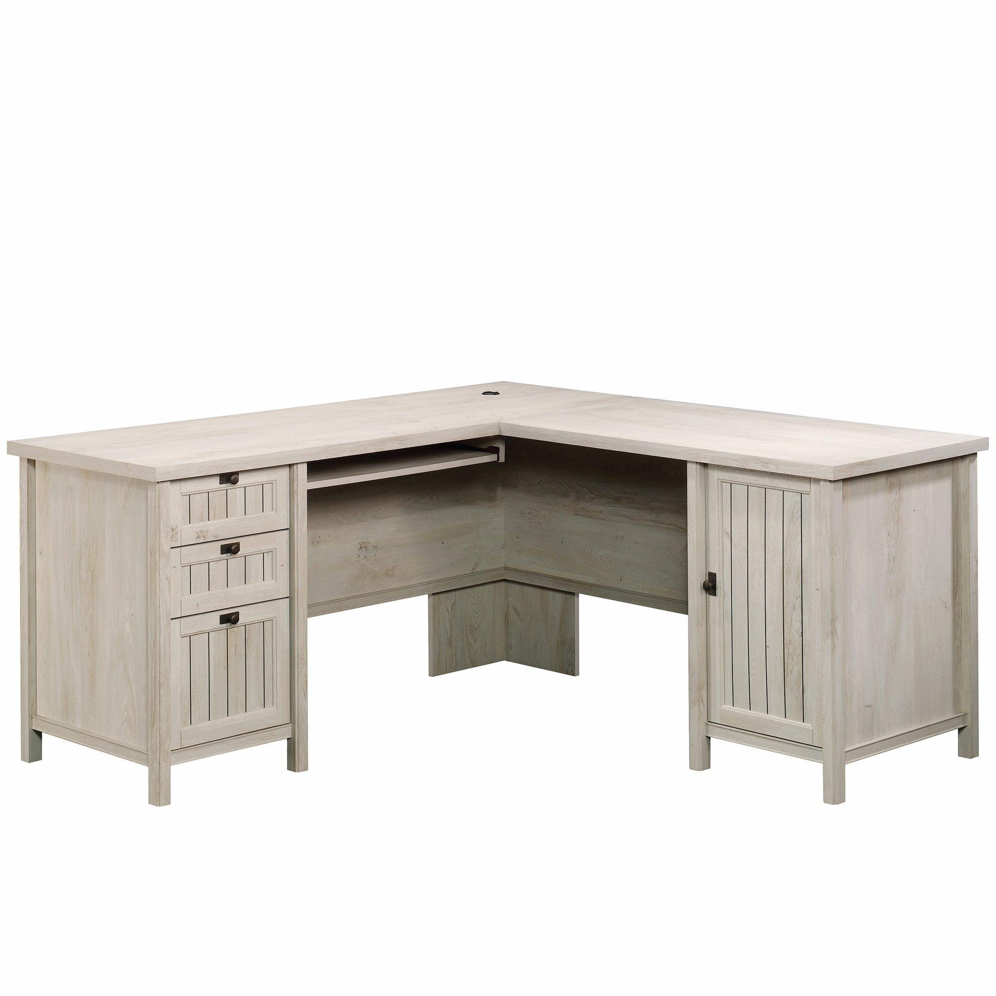 Sauder 419956 Costa L-Desk, Chalked Chestnut Finish