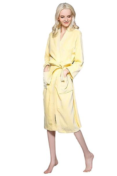 Fortunings JDS Invierno de algodón albornoces kimono bata ropa de dormir Batas para hombres de las
