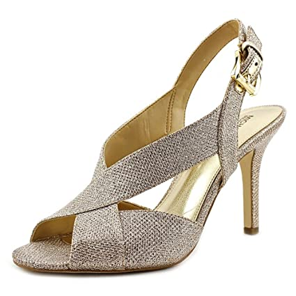 59b8158512c6 Amazon.com  Michael Michael Kors Becky Sandal Women US 8 Tan Sandals   Sports   Outdoors