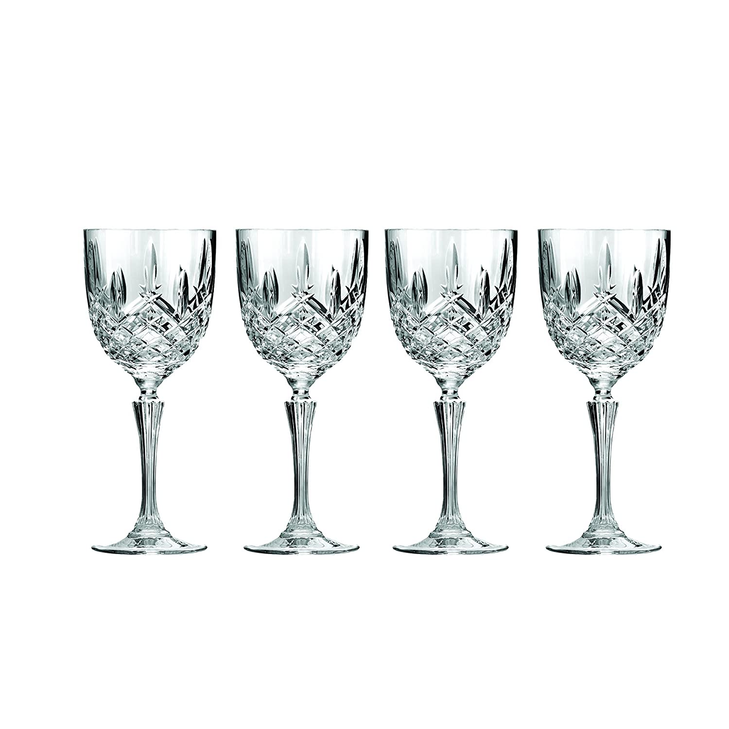 Marquis by Waterford Markham 11 Ounce Double Old Fashioned Glasses Pair and Square Decanter Set, Unleaded Crystal 40026495