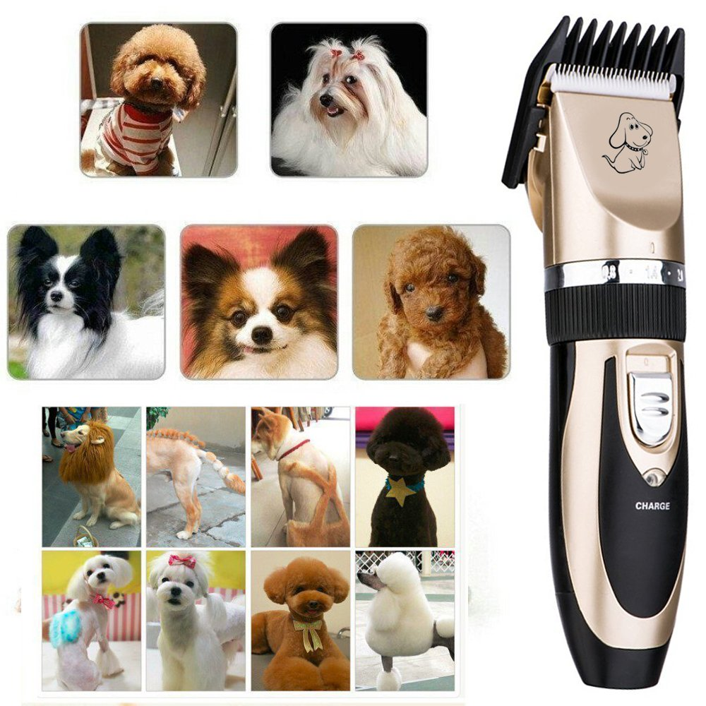 Pet Grooming Clipper Kits Low noise Dog and Cat Rechargeable Cordless Electric Clipper Animal Haircut Machine by YUHEN (Image #6)
