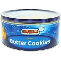 AMERICANA CAKES Butter Cookies Tin Blue 454G