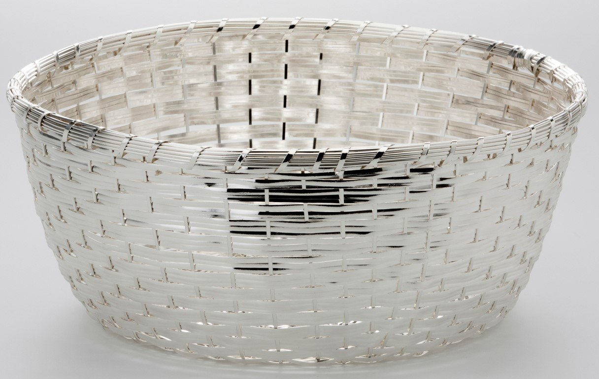 Para el pan, trenzado redondo de 25 cm, bañado en plata y colour ...