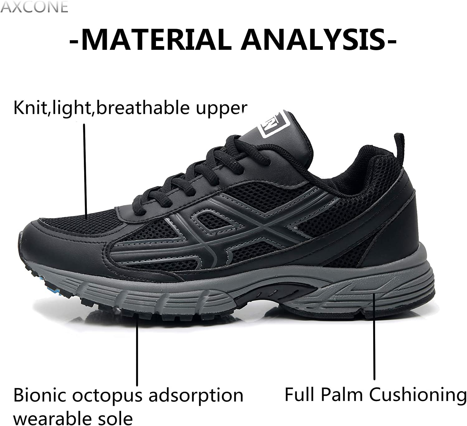 Axcone Homme Femme Running Baskets Chaussures Outdoor Running Gym Fitness Sport Sneakers Style Multicolore Respirante