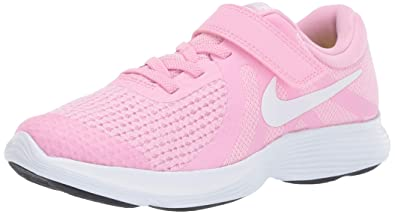 1fe371aaac7 Nike Girls  Revolution 4 (PSV) Running Shoe Rise White-Pink Foam