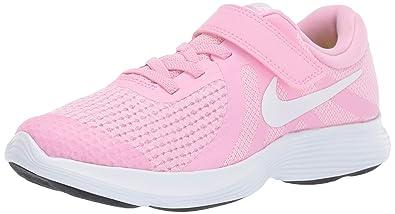 777815e11448 Nike Girls  Revolution 4 (PSV) Running Shoe Rise White-Pink Foam