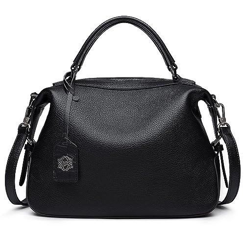 c651400ec ZOOLER Genuine Leather Handbags for Women Top Handle Bag Crossbody Bags  Large Purse