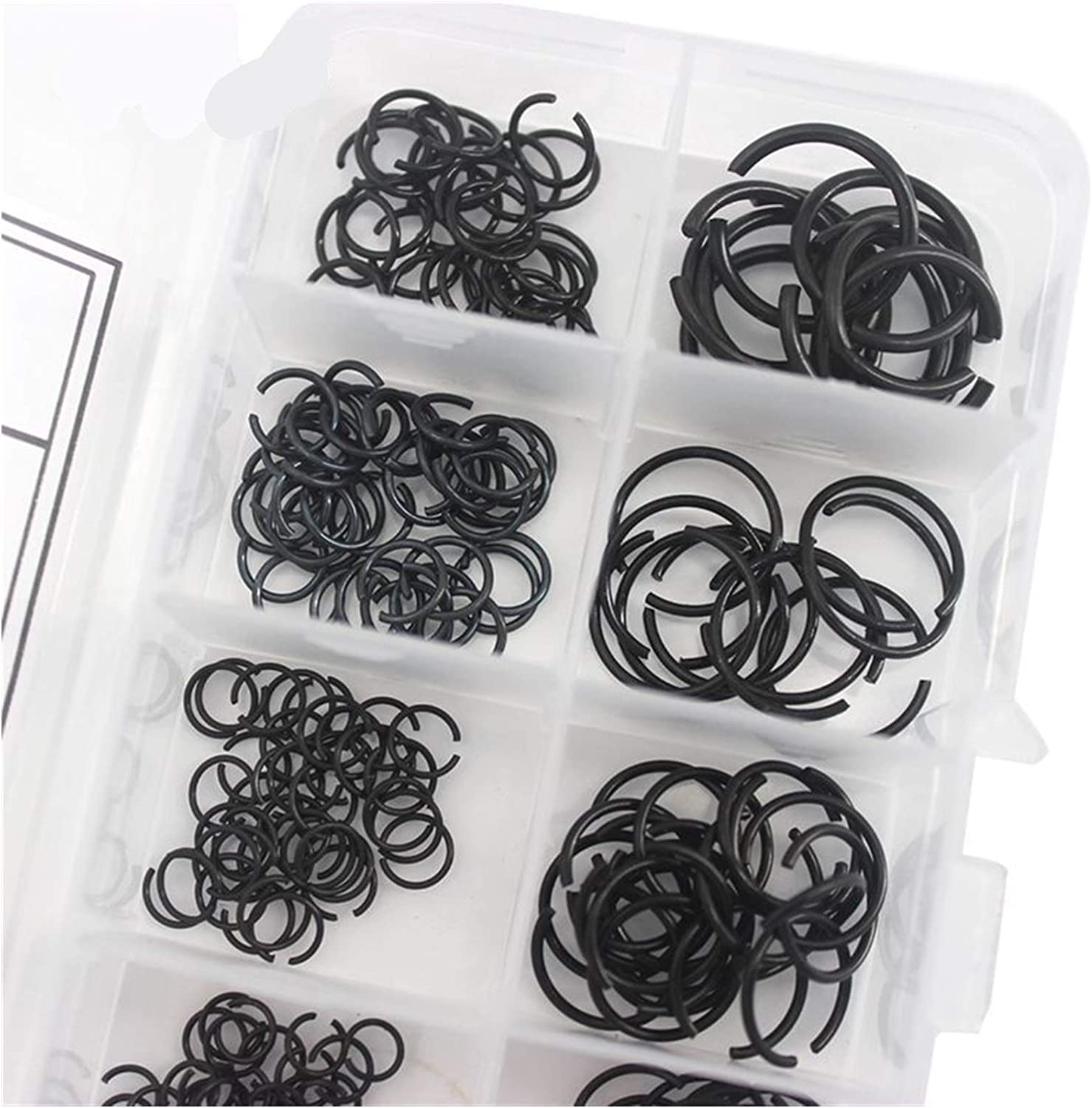 M16 Mix Round Wire Snap Rings for Hole Assorted Kit 65 Manganese Steel Circlips M8 M9 M10 M11 M12 M14 DShanLa DShanLa 300 Pieces M4