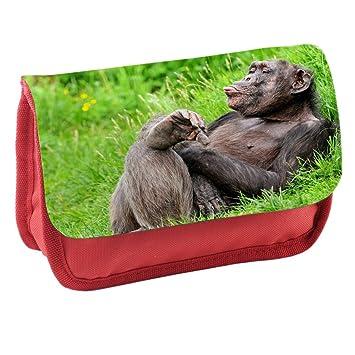 Monos 10008, Chimpancé, Rojo Escuela Niños Sublimación Alta ...