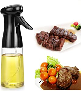Olive Oil Sprayer, Oil Spray for Cooking, BBQ Cooking Spray Bottle Dispenser Bottle, for Cooking Baking, Roasting Grilling, BBQ, Salad, Frying, for Kitchen Food Grade PET BPA (7.4 ounces/210ml)