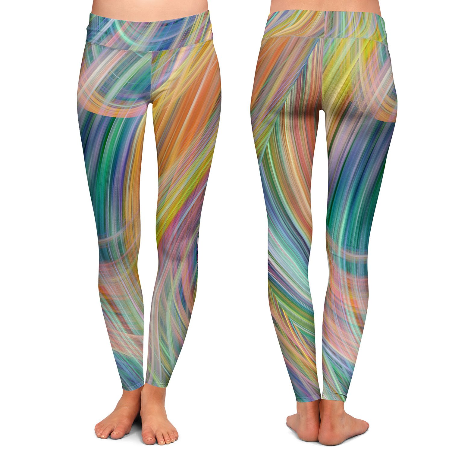 Lazy Breezy Day IV Athletic Yoga Leggings from DiaNoche Designs by Ruth Palmer