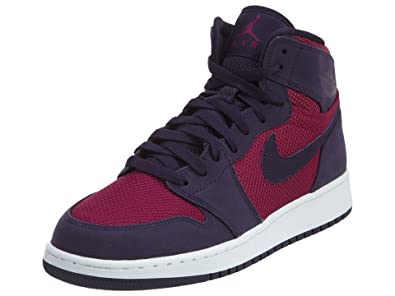 online store 09171 2c94e Jordan Air 1 Retro High Big Kids Shoes True Berry Purple Dynasty White  332148