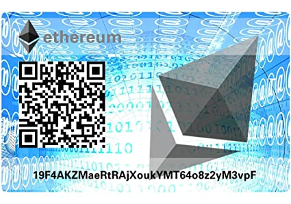 ethereum Paper Wallet Card, hardware Wallet: Amazon.es ...