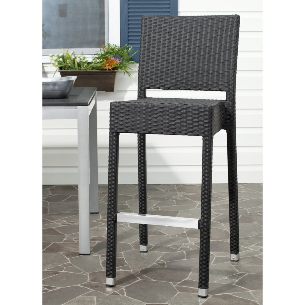 Safavieh Home Collection Bethel Black Indoor/ Outdoor 29.5-inch Bar Stool