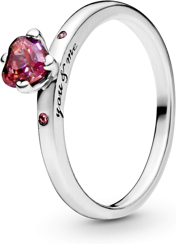 Pandora Jewelry - Anillo para mujer en plata de ley con circonita cúbica