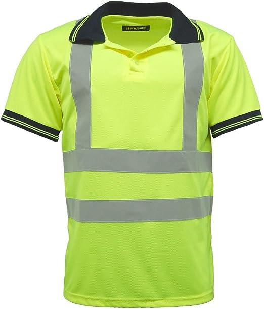 Polo de hombre de alta visibilidad, ropa de trabajo de seguridad ...