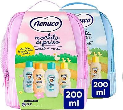Nenuco Pack Mochilas Bebé de paseo con Colonia, Jabón, Champú y Leche Hidratante [Pack exclusivo 2 Unidades]: Amazon.es: Salud y cuidado personal