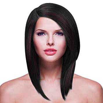 Amazon Com Shoulder Length Lace Front Wig For Women L Part Short